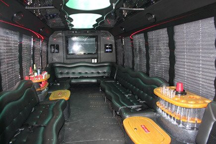 Interior shot of the F-650 bus.